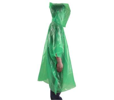 AceCamp пончо Emergency Rain Poncho green