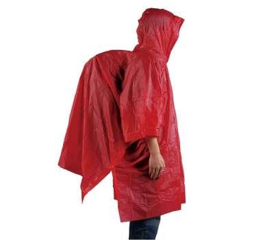 AceCamp пончо Vinyl Rain Poncho red