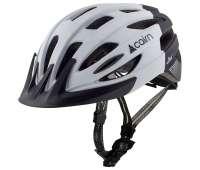 Шлем  велосипедный с маячком Cairn  Fusion white-black