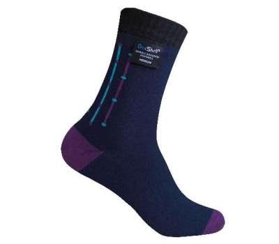 Dexshell Waterproof Ultra Flex Socks XL шкарпетки водонепроникні  чорно-фіолетові