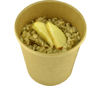 Вівсяна каша з яблуком Happy Elk прозора упаковка