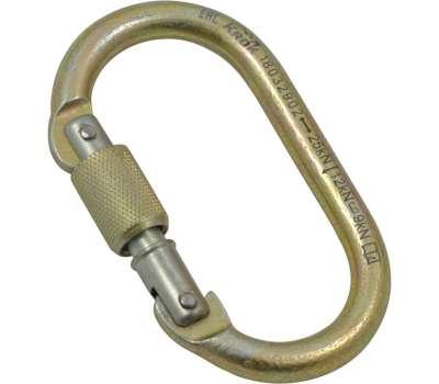 Карабин стальной Овал-крючок, резьбовая муфта Крок